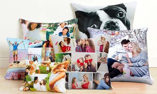 4076abecb1 Cuscini bicolore full foto 40x40 cm personalizzati per compleanni,  anniversari e feste.La stampa è realizzata direttamente sul cuscino.