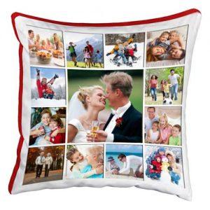 cuscino personalizzato fotomosaico